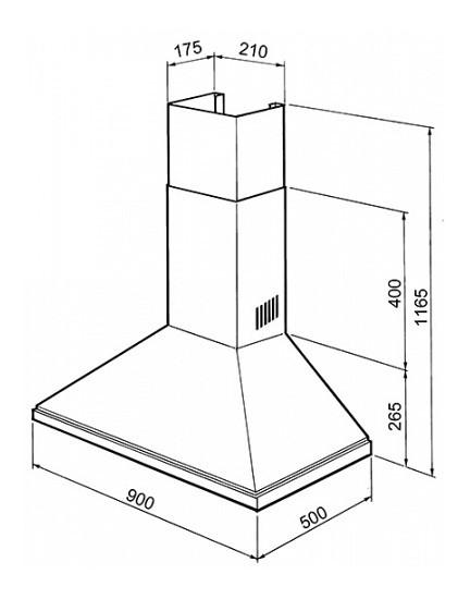 Keuken Afzuigkap Capaciteit : SMEG Wand afzuigkap 70 cm – Landelijke en moderne houten keukens