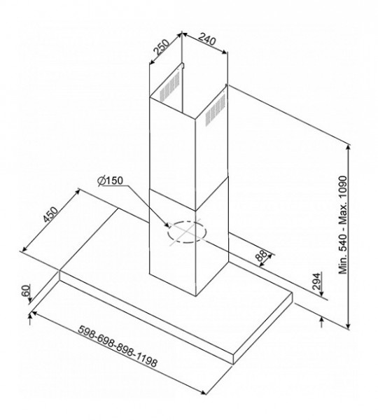 Keuken Afzuigkap Capaciteit : SMEG Wand afzuigkap 60 cm – Landelijke en moderne houten keukens