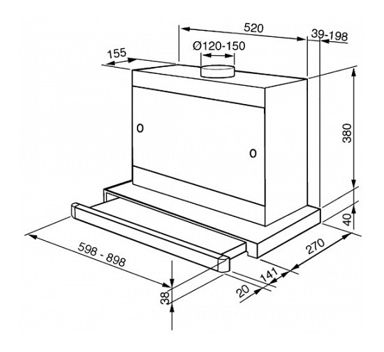Keuken Afzuigkap Capaciteit : SMEG Vlakscherm afzuigkap 90 cm – Landelijke en moderne houten keukens